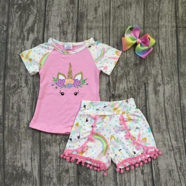 Baby Girls Summer Clothes Children Girls Unicorn Boutique Outfits