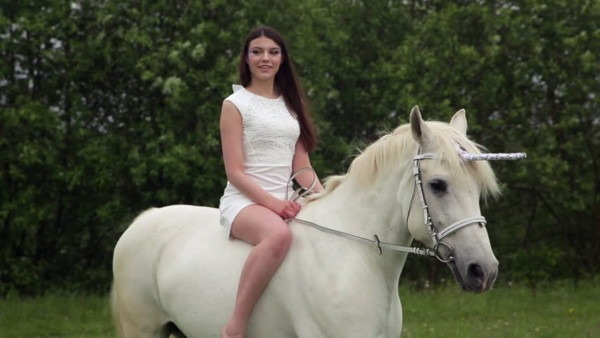Beautiful Young Girl With Long Stock Footage Video (100  Royalty