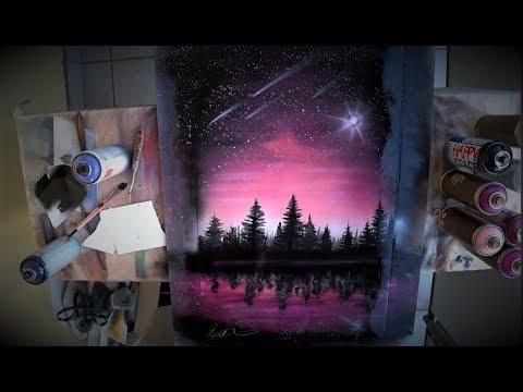Billions Stars On The Pink Sky