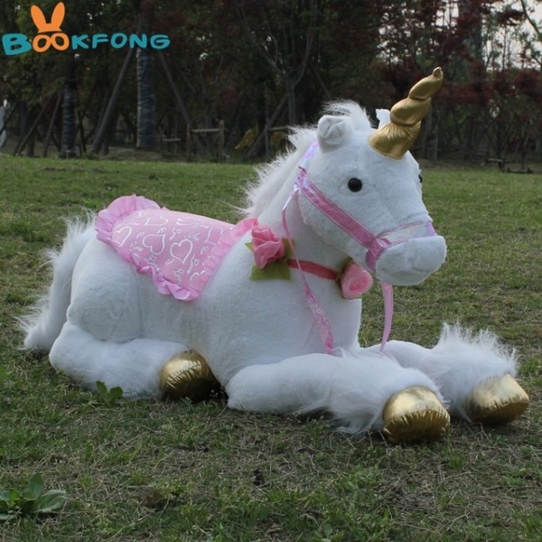 Bookfong 85cm Jumbo White Unicorn Plush Toys Giant Stuffed Animal