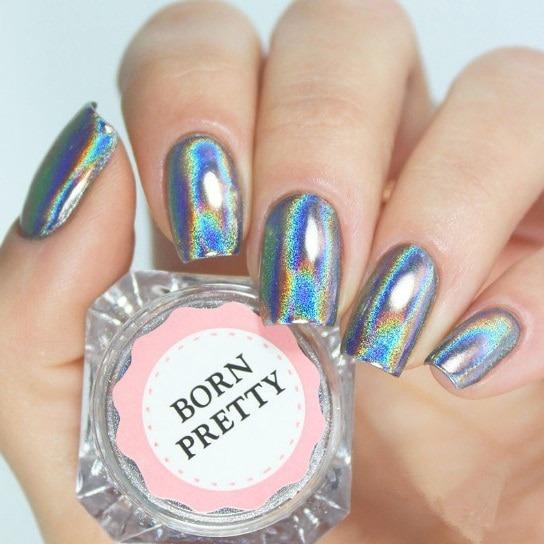 Born Pretty 1g 1box Holographic Shiny Powder Laser Rainbow Powder