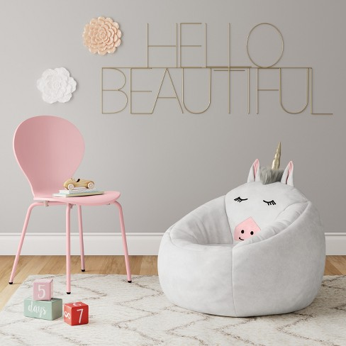 Character Bean Bag Chair White Unicorn
