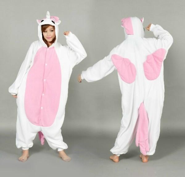 Christmas Halloween Adult Onesie Animal Pink Unicorn Pajamas