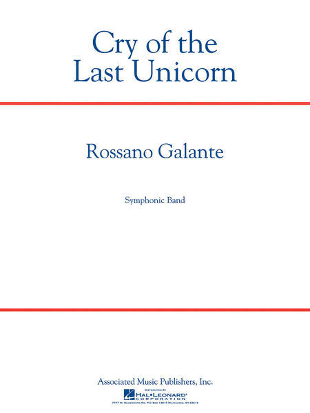 Cry Of The Last Unicorn Sheet Music By Rossano Galante