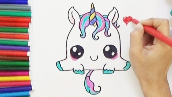 How To Draw A Cute Unicorn Step By Step Easy