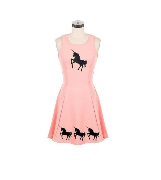 Cute Unicorn Dress Womens Pink Dresses Clothing Unicorns A Line