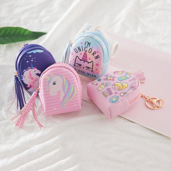 Cute Unicorn Rainbow Coin Bag Women Fashion Tassel Coin Purses