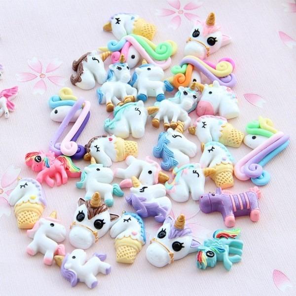 Cute Unicorn Slime Set Diy Resin Accessories Slime Filler Toys For