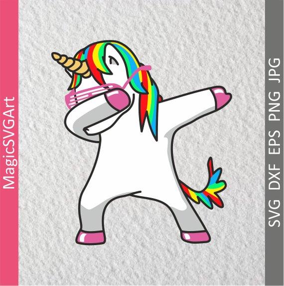 Dabbing Unicorn Svg Dabbing Svg Dab Svg Dabbing Unicorn Svg