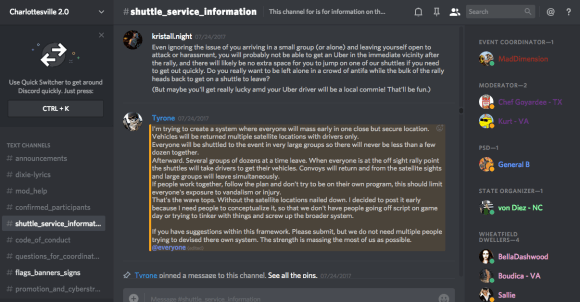 Data Release  Discord Chats Planned Armed Neo