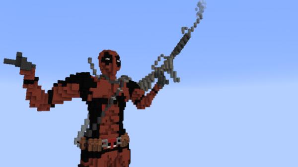 Deadpool In Minecraft (statue) Minecraft Project