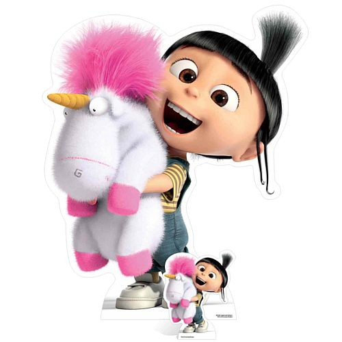 Despicable Me Agnes With Fluffy Unicorn Cardboard Cutout
