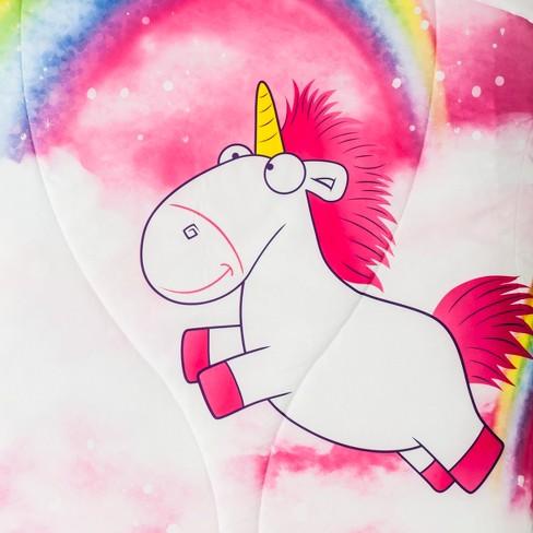 Despicable Me Fluffy Unicorn Twin Microfiber   Target