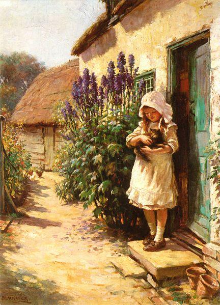Detail Of 'the Cottage Door'