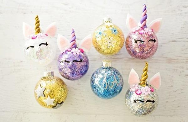 Diy Glitter Unicorn Ornaments