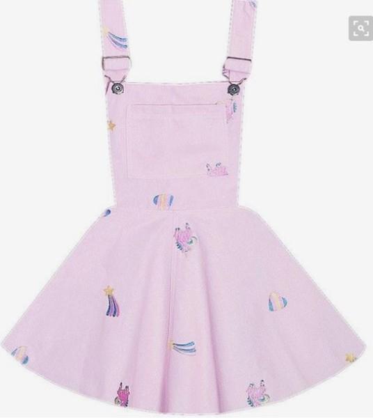 Dress, Overalls, Overall Dress, Overall Skirt, Unicorn, Unicorn