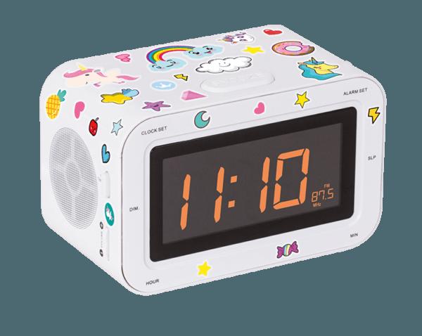 Dual Radio Alarm Clock Rr30bcunicornstick Bigben Kids