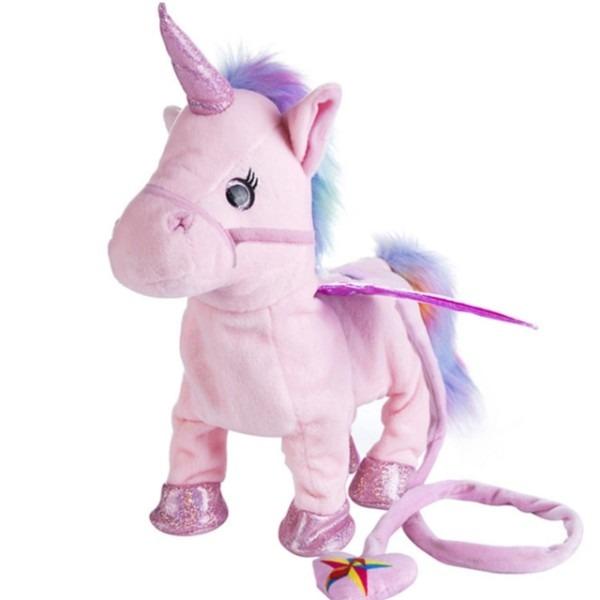 Electric Walking Unicorn Plush Toy Stuffed Animal Toy Electronic