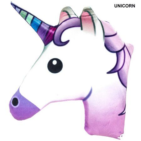 Emoji Unicorn Pillow, Yellow