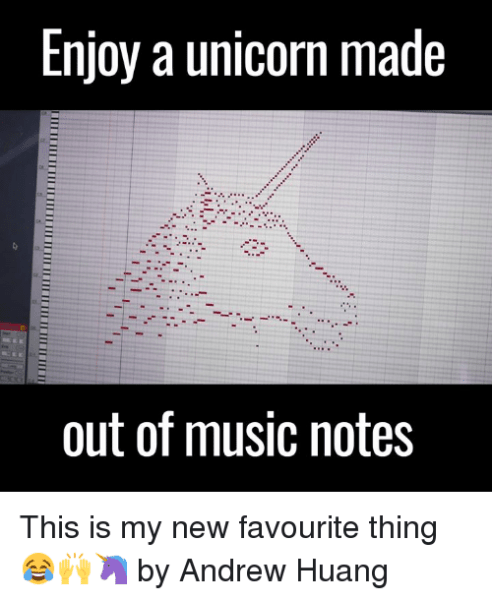 Enjoy A Unicorn Made Out Of Music Notes This Is My New Favourite