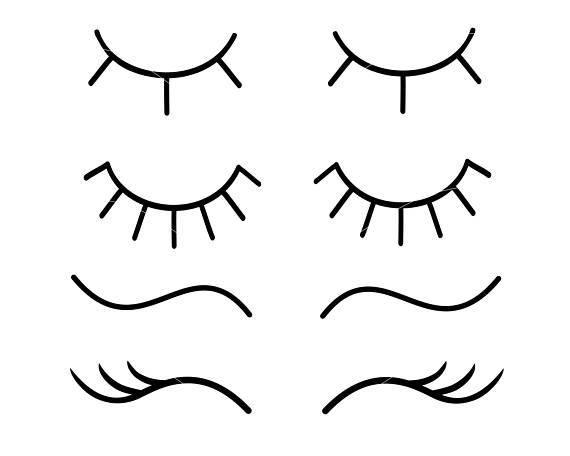 Eyelashes Svg Unicorn Eyelashes Svg Eye Lashes Svg Lashes Svg Eye
