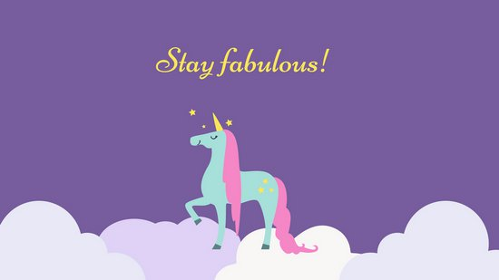 Fabulous Unicorn Funny Desktop Wallpaper