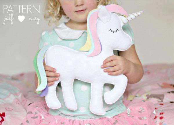 Felt Toy Unicorn Pattern