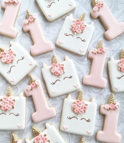 First Birthday Unicorn Cookies One Dozen Decorated Sugar