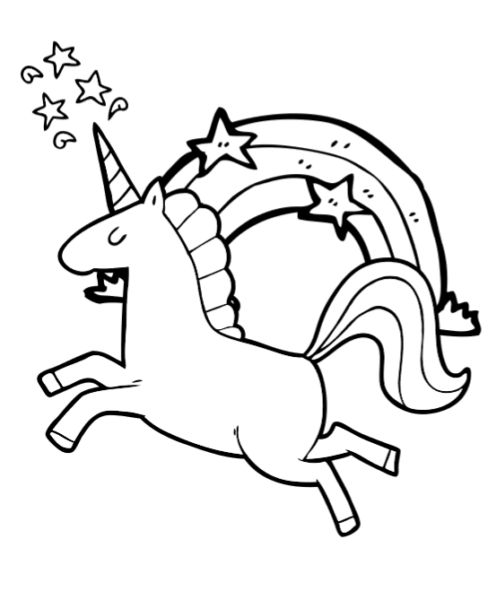 Free Super Cute Printable Unicorn Coloring Book Pages ⋆ Fun