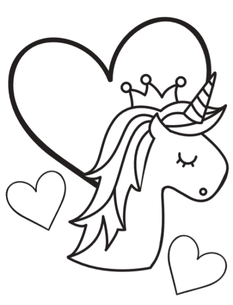 Free Super Cute Printable Unicorn Coloring Book Pages Fun Thrifty
