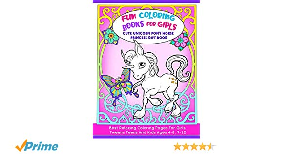 Fun Coloring Book For Girls   Cute Unicorn Pony Horse Princess