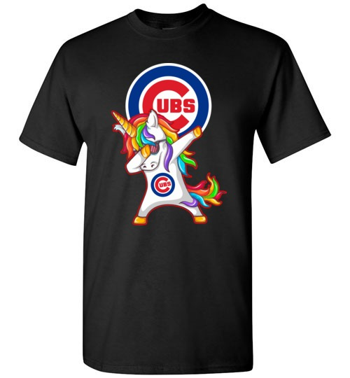 Funny Chicago Cubs Shirts  Unicorn Dabbing T