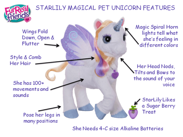 Furreal Friends Starlily Giant Stuffed Talking Unicorn – Robotic
