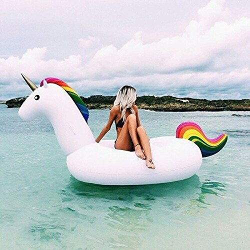 Giant Inflatable Unicorn Pool Float Toy, Inflatable Lilo Lounger