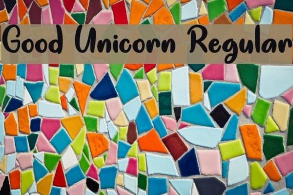 Good Unicorn Regular Font