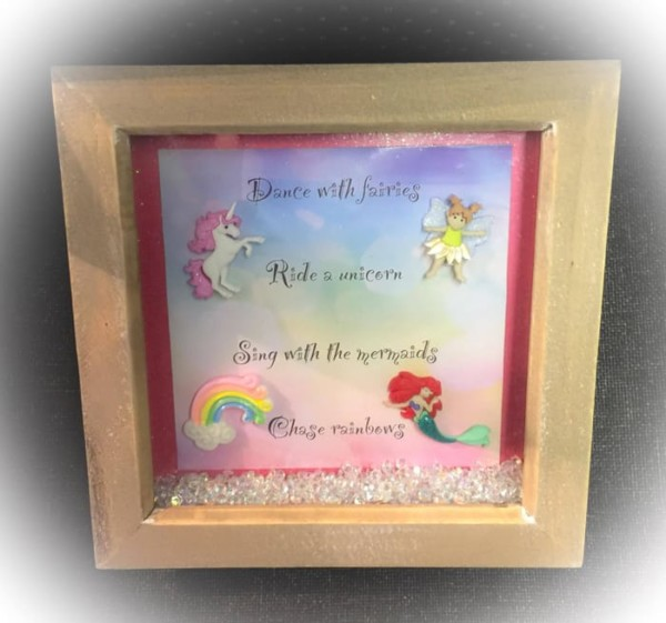 Handmade Unicorn Box Frames