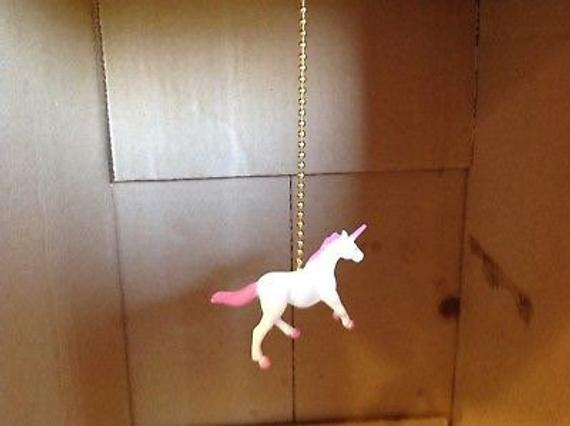 Handmade Unicorn Ceiling Fan Pull Light Pull Unicorn