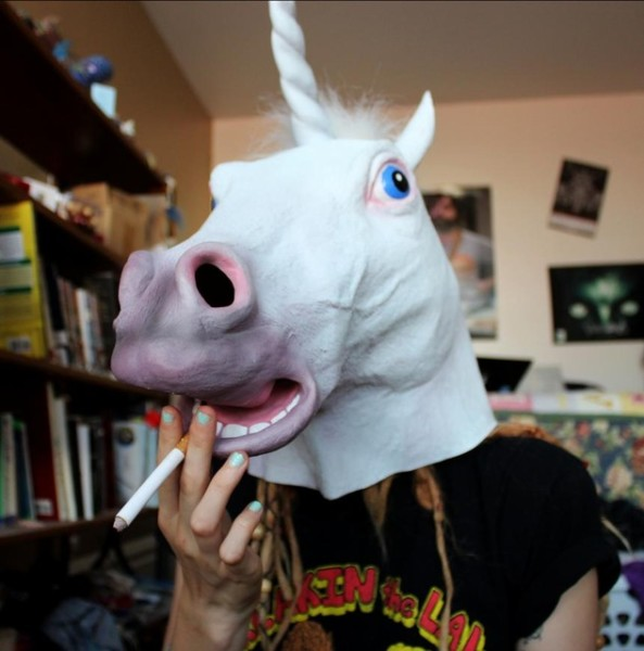 High Quality Unicorn Horse Head Mask Halloween Costume Party Gift