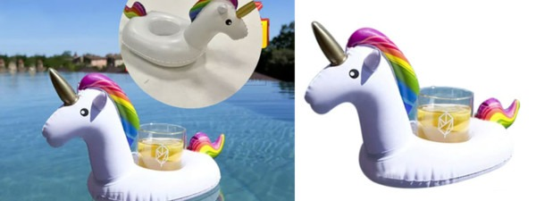 Hot  Inflatable Unicorn Drink Holder $5 99 + Free Shipping