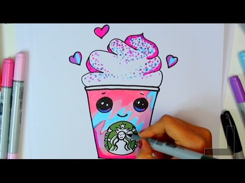 How To Draw A Starbucks Unicorn Frap Cartoon