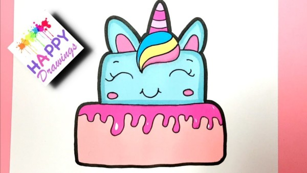 How To Draw A Unicorn Cake Cute