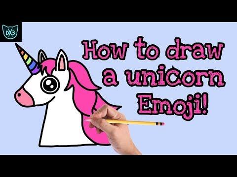 How To Draw A Unicorn Emoji!