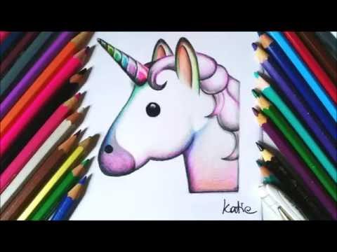 How To Draw A Unicorn Emoji Easy Youtube