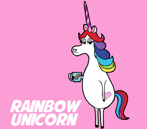 How To Draw Rainbow Unicorn From The Minions Movie Step By Step