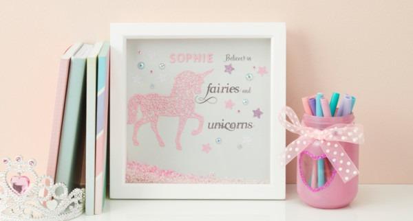 How To Make An Intricut Unicorn Box Frame