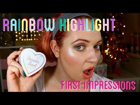 I Heart Makeup Unicorns Heart Rainbow Highlighter First