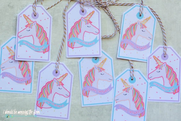 I Should Be Mopping The Floor  Rainbow Unicorn Gift Tags