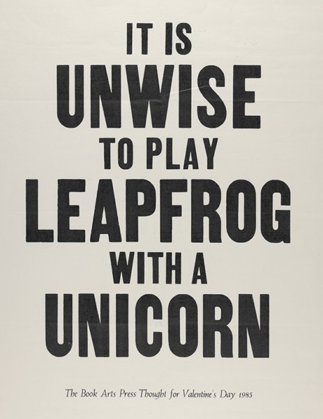 It Is Unwise To Play Leapfrog With A Unicorn