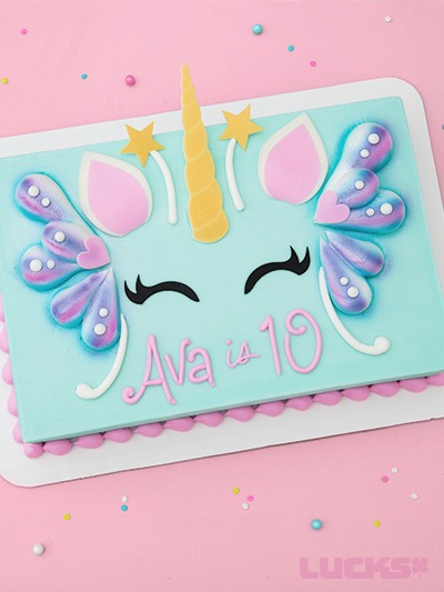 Item Number Unicornfairyquartersheetcake
