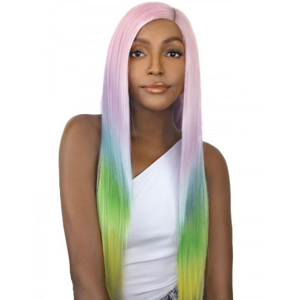 It's A Wig Synthetic Unicorn Color Lace Front Wig Straight